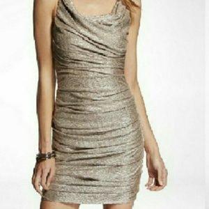 EXPRESS champange gokd dress. Sz. 0